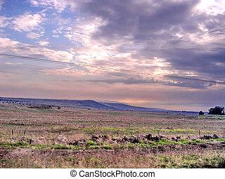 Ramat Hagolan soon evening November 2006 - Soon evening on...