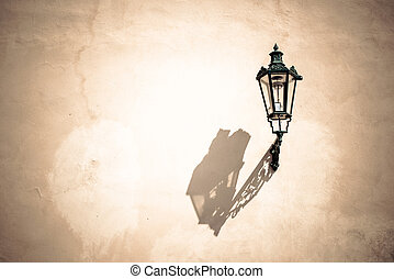 wall lamp with textured background