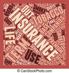 Term Life Insurance For Tobacco Users text background wordcloud concept