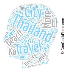 Thailand is Their Land text background wordcloud concept