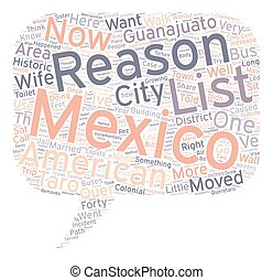 The 10 000 And One Reasons We Live In Mexico text background...