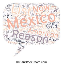 The And One Reasons We Live In Mexico text background...