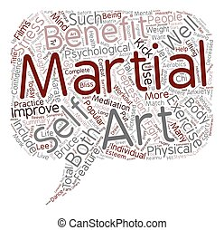 The Bliss of Martial Arts text background wordcloud concept