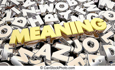 Meaning Secret Scrambled Message Letters Word 3d...