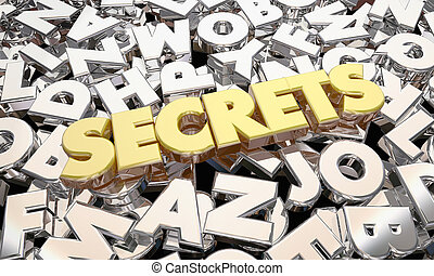 Secrets Classified Confidential Personal Information Word 3d...