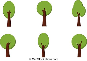 Vector Set of Trees collection stock