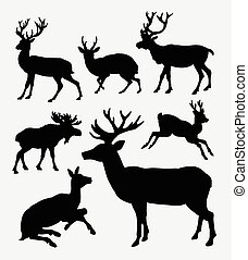 Deer wild animal silhouette