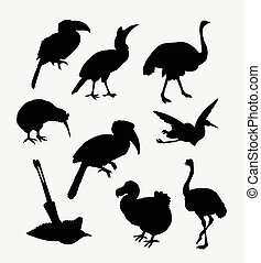Bird poultry silhouette. Good use for symbol, web icon,...