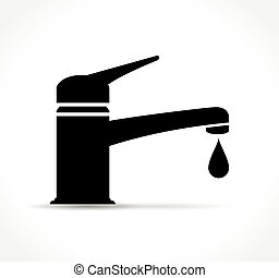 faucet icon on white background - Illustration of faucet...