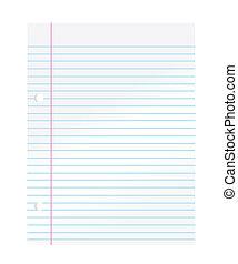 cuaderno, papel