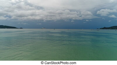 Aerial view of the Andaman sea from Patong beach in Phuket -...
