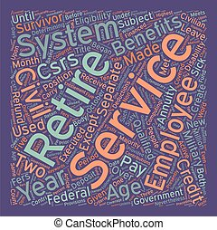 The Civil Service Retirement System text background...