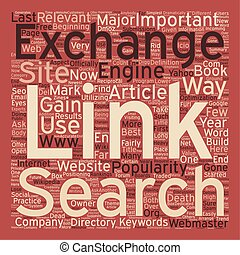 The Death of The Link Exchange text background wordcloud concept
