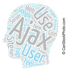 The Feel Of The Web text background wordcloud concept