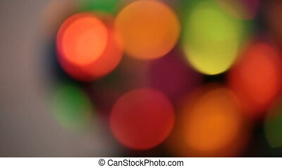 Multicolored soft bokeh on a black background - Multicolored...