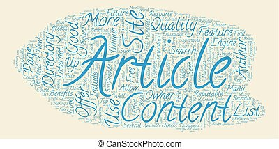 The Future Of Article Directories text background wordcloud concept