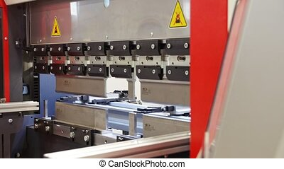 Industrial equipment - automate machine at factory, close up