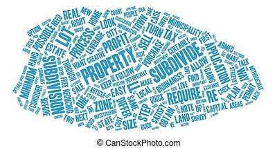 The Guide to Subdivide text background wordcloud concept