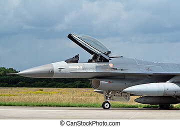 F-16 - VOLKEL, THE NETHERLANDS - JUNE 16: `F-16 display at...