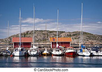 Astol, Sweden - On the skerry island of Astol, Sweden