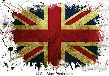 Great Britain flag paint - A great britain flag with a...