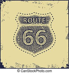 route sixty six sign