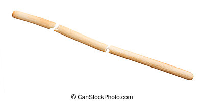Bread stick isolated on a white background
