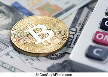bitcoin with us dollars and calculator - cryptocurrency....
