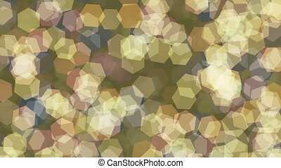 Bokeh background in various colors