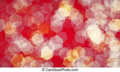 Bokeh background in white and yellow on red