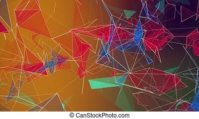 Abstract triangles in various colors