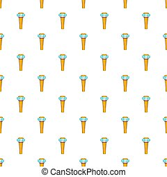 Control tower at airport pattern, cartoon style - Control...