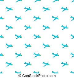 Children plane pattern, cartoon style - Children plane...