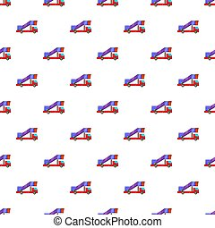 Passenger gangway pattern, cartoon style - Passenger gangway...
