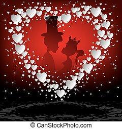 Red design,white heart