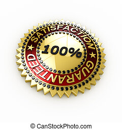 Satisfaction Guaranteed seal over white background