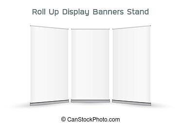 real 3d roll up display banners stand