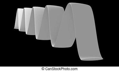 White moving belt