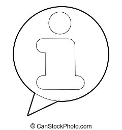 Information icon, outline style