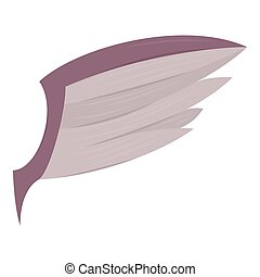 Wing icon, cartoon style - Wing icon. Cartoon illustration...
