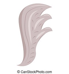 Bird wing icon, cartoon style - Bird wing icon. Cartoon...
