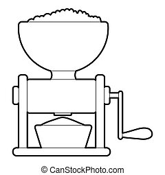 Meat grinder icon, outline style - Meat grinder icon....