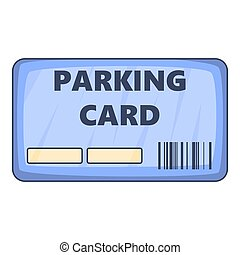 Parking payment card icon, cartoon style