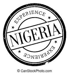 Nigeria stamp rubber grunge - Nigeria stamp. Grunge design...