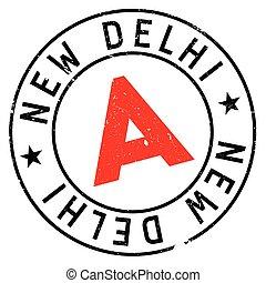 New Delhi rubber grunge - New Delhi stamp. Grunge design...