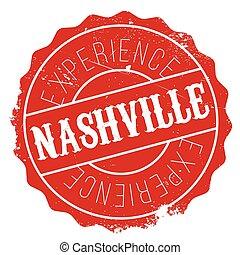 Nashville stamp rubber grunge - Nashville stamp. Grunge...