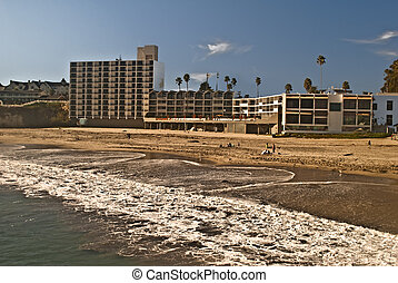 Santa Cruz resorts - View of Santa Cruz beach and resorts
