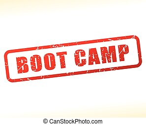 boot camp text buffered - Illustration of boot camp text...