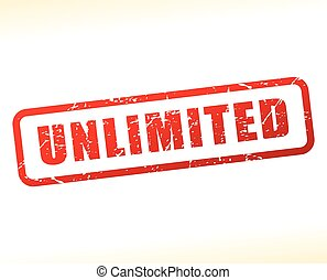 unlimited text buffered on white background - Illustration...
