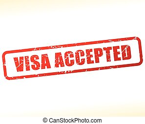visa accepted text buffered - Illustration of visa accepted...